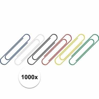 1000 stuks hobby paperclips gekleurd prijs