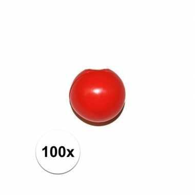 100x rode clowns neus/neuzen zonder elastiek prijs