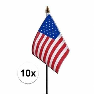 10x amerika vlaggetje polyester prijs