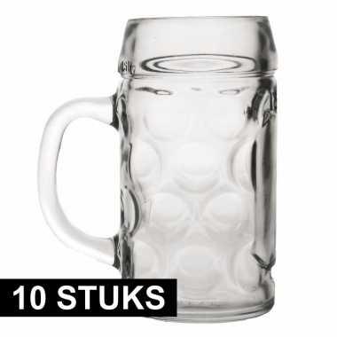 10x bierpullen/bierglazen van 1 liter prijs