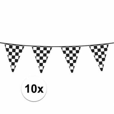 10x finish slinger met driehoek vlaggetjes 6 meter prijs