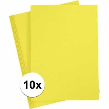 10x geel kartonnen vel a4 prijs