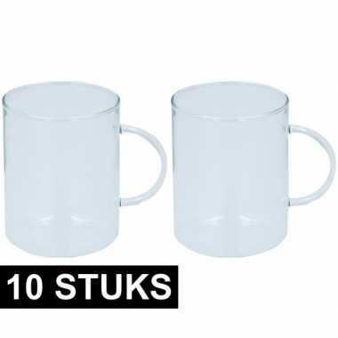 10x glazen voor thee 400 ml prijs