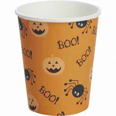 10x halloween thema bekers spin/pompoen 240 ml oranje prijs