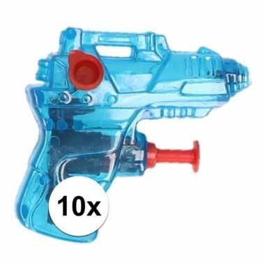 10x kleine waterpistooltjes blauw 7 cm prijs