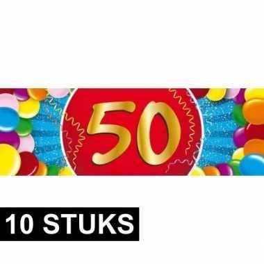 10x leeftijd sticker 50 jaar prijs