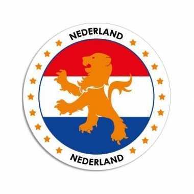 10x ronde nederland stickers prijs