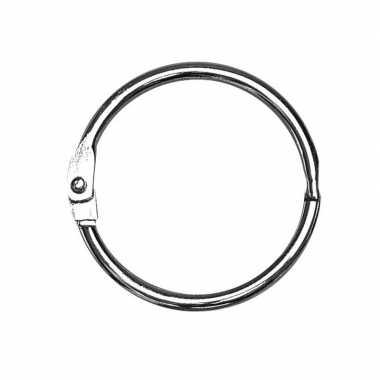 10x sleutelringen/boekringen 25 mm prijs