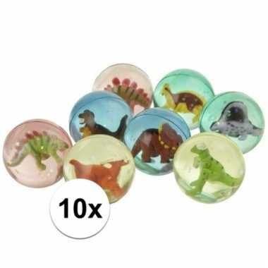 10x stuiterbal met dinosaurus prijs