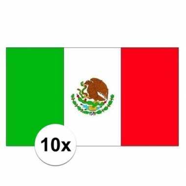 10x stuks stickertjes van vlag van mexico prijs