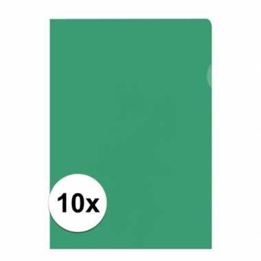 10x tekeningen opbergmap a4 groen prijs
