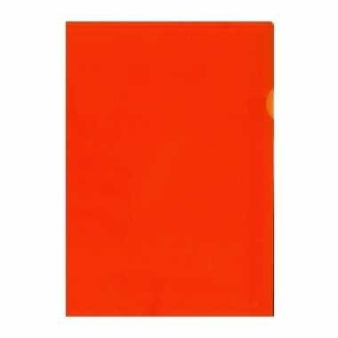 10x tekeningen opbergmap a4 oranje prijs