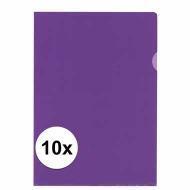 10x tekeningen opbergmap a4 paars prijs
