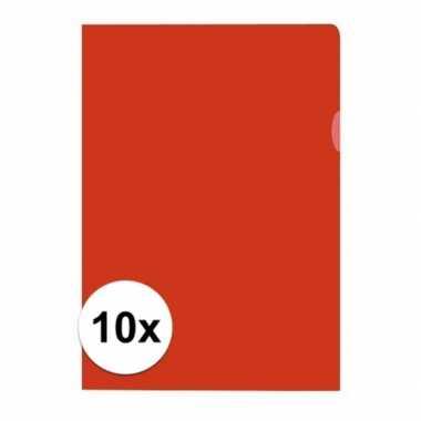 10x tekeningen opbergmap a4 rood prijs