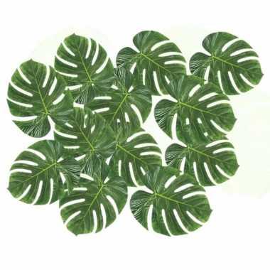 12x decoratie palmbladeren prijs