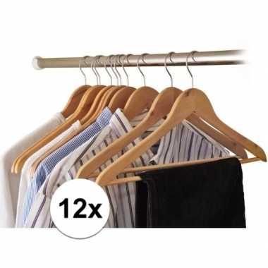 12x kledinghangers hout prijs
