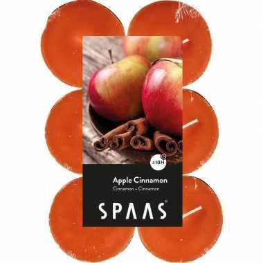 12x maxi theelichten appel/kaneel geurkaarsen apple cinnamon 10 brand