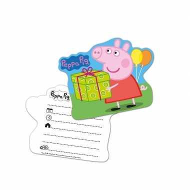 12x peppa pig verjaardags uitnodigingen prijs