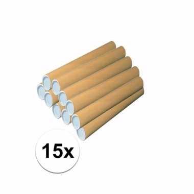 15 knutsel kokers van karton 43x6 cm prijs