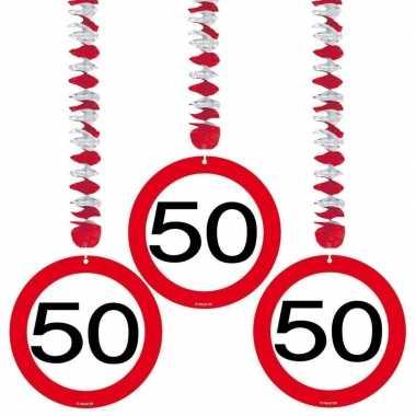 15x stuks 50e verjaardag plafond versiering prijs