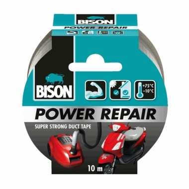 1x bison power repair tape grijs 10 meter prijs