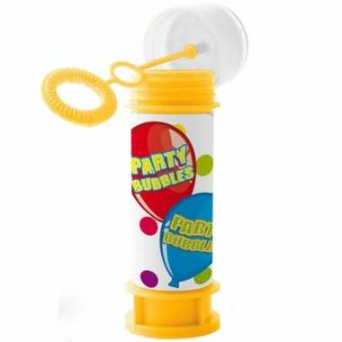 1x kinder bellenblaas party bubbles 60 ml gekleurd flesje prijs