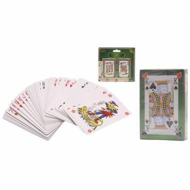 Vergelijk 2 pakjes speelkaarten 54 stuks prijs