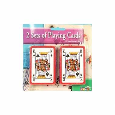 Vergelijk 2 pakjes speelkaarten prijs