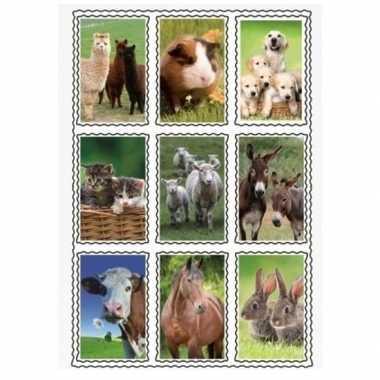 2 stuks 3d stickers van boerderij dieren 9 stuks per vel prijs