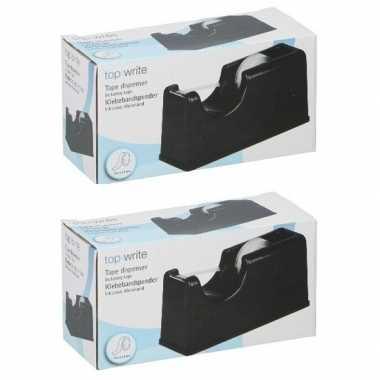 2 stuks plakband houders zwart 15 cm prijs