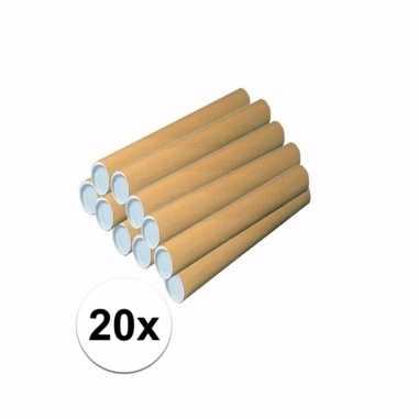 20 knutsel kokers van karton 43x6 cm prijs