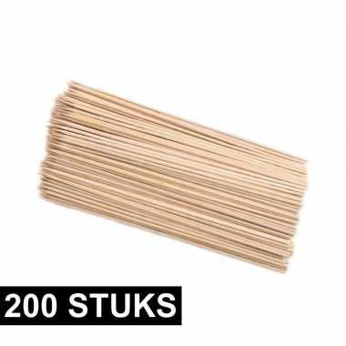 200x houten hapjes prikkers 25 cm prijs