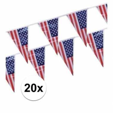 20x amerikaanse usa punt vlaggetjes lijnen prijs