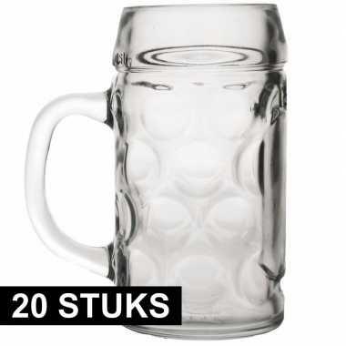 20x bierpullen/bierglazen van 1 liter prijs