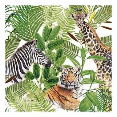 20x feest servetten wilde dieren 33 x 33 cm prijs