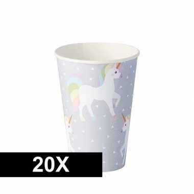 20x feestbekertjes eenhoorn 0.2l prijs