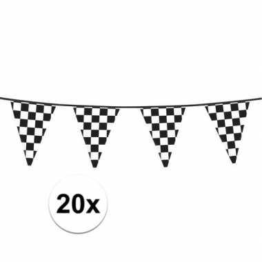 20x finish slinger met driehoek vlaggetjes 6 meter prijs
