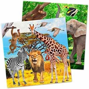 20x safari/jungle thema servetten 33 cm prijs