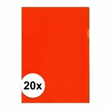 20x tekeningen opbergmap a4 oranje prijs