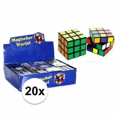 20x uitdeel speelgoed puzzel kubussen 7 cm prijs
