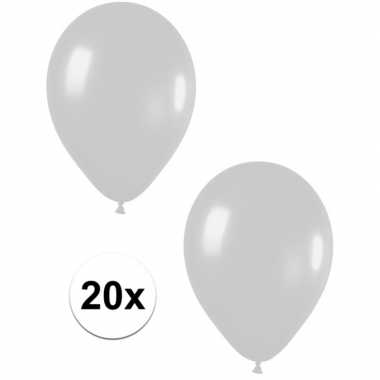 20x zilveren metallic heliumballonnen 30 cm prijs