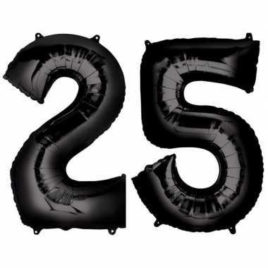 25 jaar leeftijd helium/folie ballonnen zwart feestversiering prijs