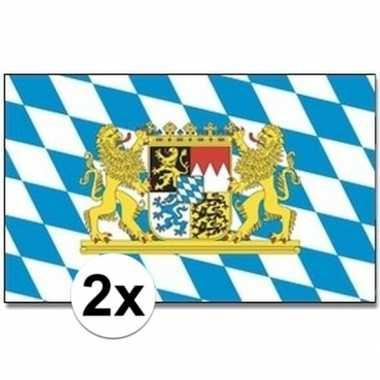 2x beierse landen vlaggen 90x150 cm prijs