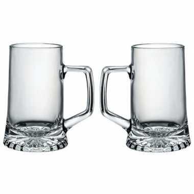 2x bierglazen/bierpullen oktoberfest 40 cl prijs