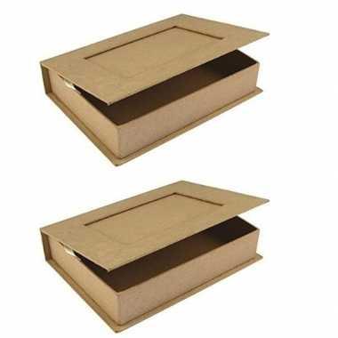 2x boek vormig knutsel doosje 16 cm prijs