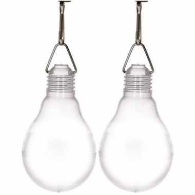 2x buiten verlichting solar lampjes wit 11,8 cm prijs