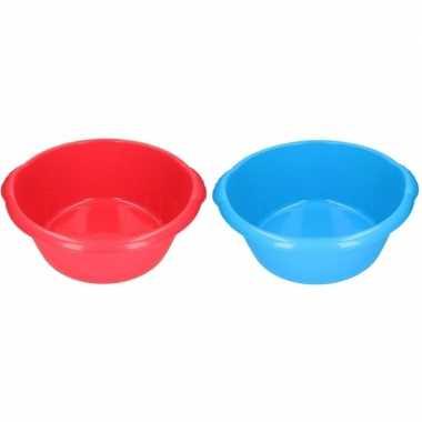 2x camping afwasbak rood/blauw 25l 50 cm prijs