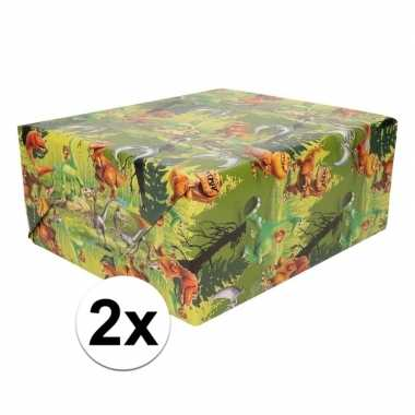 2x disney dino the good dinosaur 200 x 70 cm cadeaupapier op rol prij