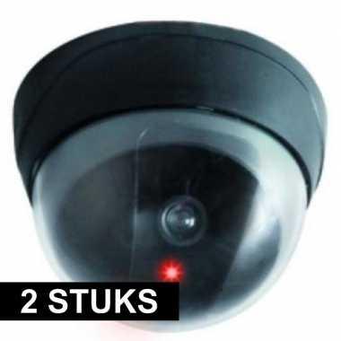 2x dummy beveiligings/koepel camera met led lampje prijs