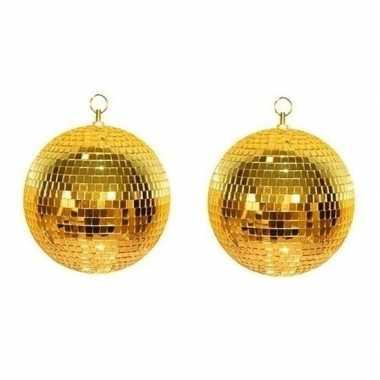 2x gouden discobal 30 cm prijs
